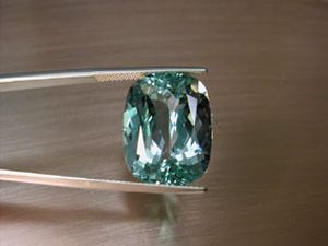 aquamarine 19.13ct. cushion