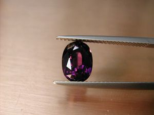 fancy spinel 2.55 ct. oval