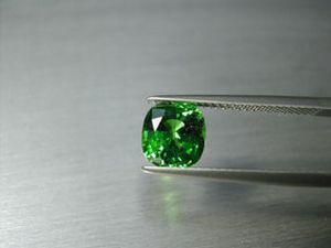 tsavorit 2.27 ct. cushion